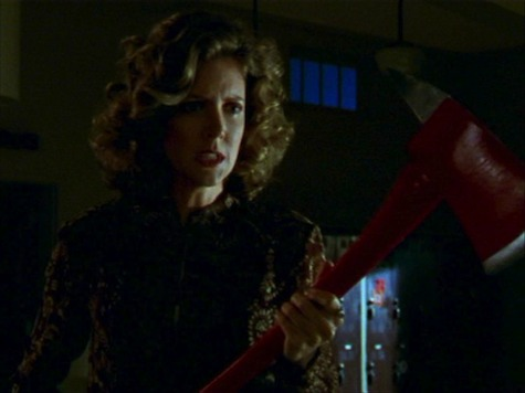 Joyce Buffy's mom in Buffy the Vampire Slayer School Hard