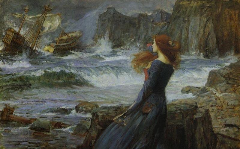"""Miranda"" by John William Waterhouse, 1916"