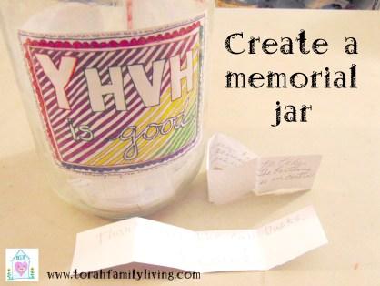 Create a memorial jar