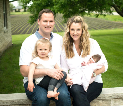 Michael and Kim Torman, with daughters Sophie (left) and Lucy