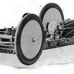 "Chassis details of one of the two Baker Electric Torpedo Kid racing cars, ""Motor Age"" September, 1903."