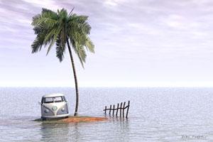 deserted boat