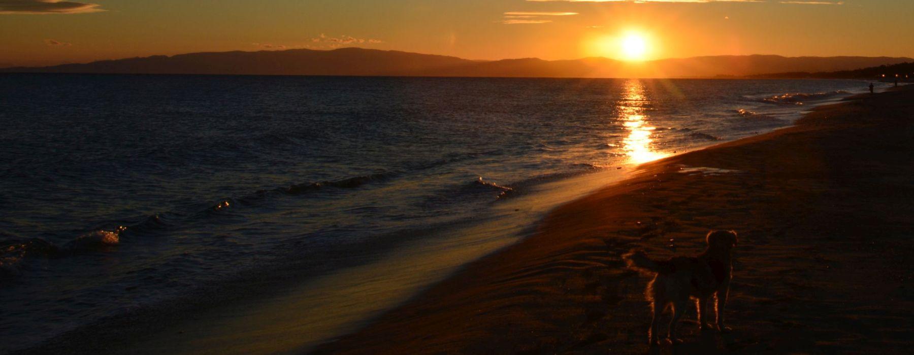 sunset beach spiaggia tramonto calabria