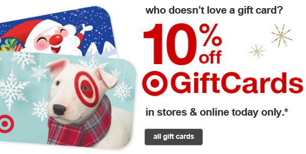 10% Off Target Gift Cards In Stores & Online Today ...