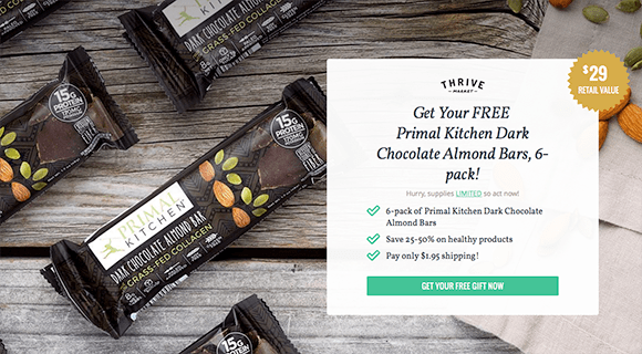 thrive market: free primal kitchen dark chocolate bars