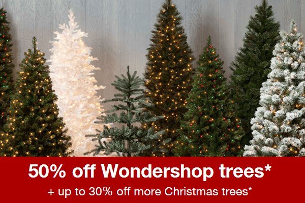 For A Limited Time Only, Target Is Offering 50% Off Their Wondershop Trees,  Plus Up To 30% Off Other Brands. If You Donu0027t Have Your Tree Yet, ...