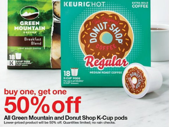 b1g1 50 off green mountain u0026 donut shop kcups - Donut Shop Coffee