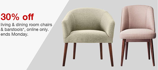 Thru Tomorrow Monday August 7th You Can Grab A Nice Big Discount Of 30 Off Living Dining Room Chairs And Barstools Online Only At Target