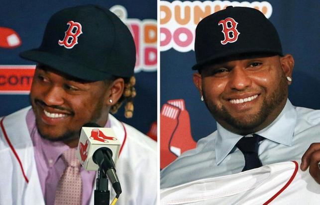 With the acquisitions of Hanley Ramirez and Pablo Sandoval, the Boston Red Sox will be MLB's most improved team in 2015. (Photo courtesy of bostonglobe.com)
