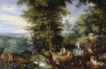 Jan Brueghel the Elder, Adam and Eve in the Garden of Eden, 1615