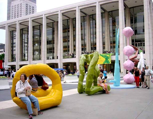 Esculturas de Franz West no Lincoln Center