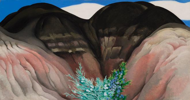 Georgia O'Keeffe. Black Hills with Cedar, 1941