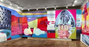 Parte da obra 'F-111' (1964-65), de James Rosenquist. A peça tem 3,05 x 26,21 metros (Foto: Reprodução/Site oficial)