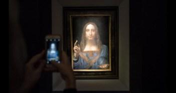 Salvator Mundi, de Da Vinci, atingiu US$ 450 milhões na Christie's