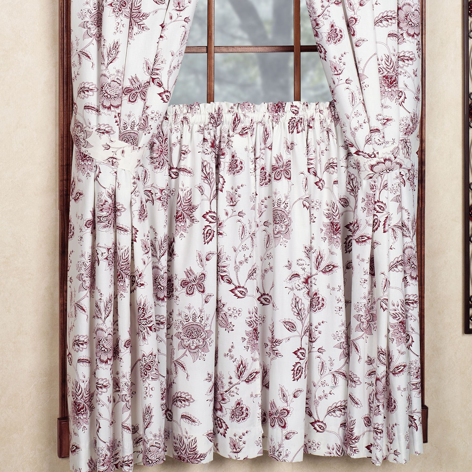 Cheery Winston Short Length Curtain Pair X Winston Jacobean Floral Short Length Window Treatment Standard Curtain Measurements Standard Kitchen Curtain Lengths houzz 01 Standard Curtain Lengths