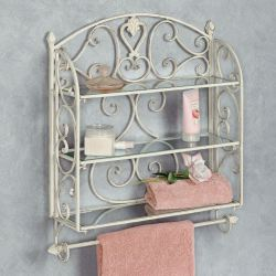 Small Crop Of Metal Bathroom Wall Shelf