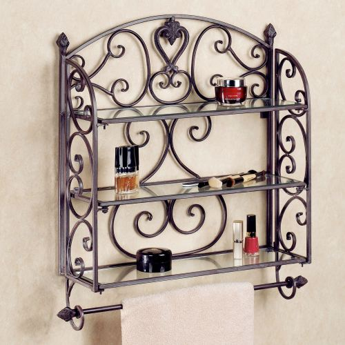 Medium Of Decorative Bathroom Wall Shelves