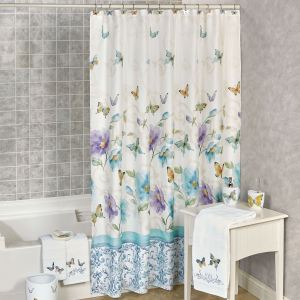 Piquant Watercolor Garden Shower Curtain Multi X Watercolor Garden Butterfly Floral Shower Curtain Butterfly Shower Curtain Kohls Butterfly Shower Curtain Walmart