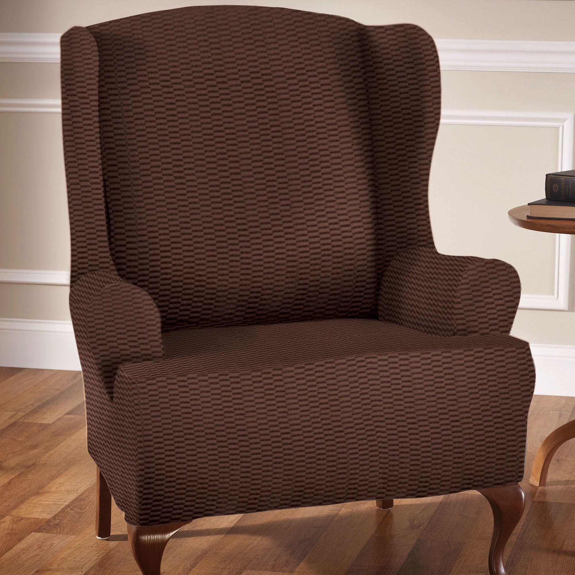 Cushty Raise Bar Wing Chair Stretch Slipcover Raise Bar Stretch Wing Chair Slipcovers Wing Chair Slipcover Wing Chair Slipcover No T Cushion baby Wing Chair Slipcover