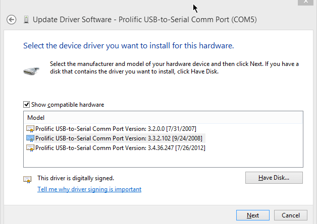 2013-05-06 22_03_38-Update Driver Software - Prolific USB-to-Serial Comm Port (COM5)