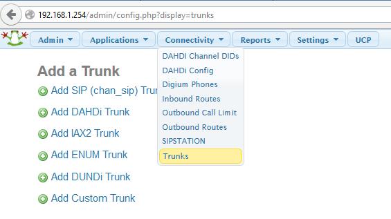 Connectivity-Trunks