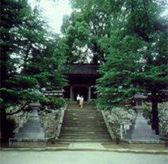 大乗寺の山門風景