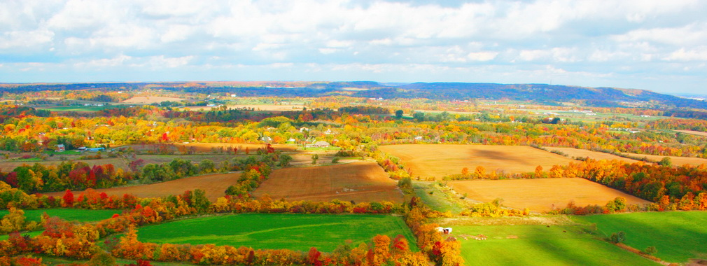 Fall Valley View Farmland Escarpment