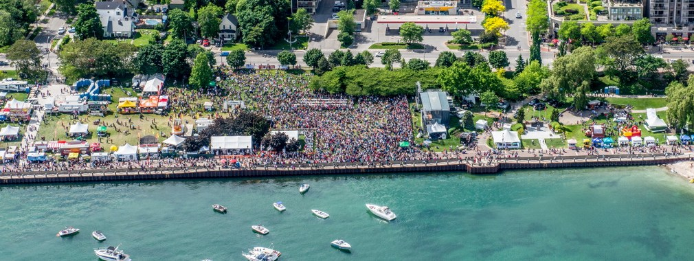 Aerial Photo of Spencer Smith at Sound of Music Festival Photo Credit JustaClick Photography