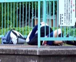 【JK青姦盗撮動画】京成線の駅ホームでセックスしてた女子校生カップルがtwitter拡散で大炎上ww