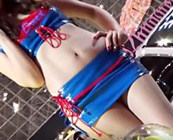 【キャンギャル盗撮動画】スカートが短すぎて必然的にパンチラする過激衣装のコンパニオンを隠し撮りww