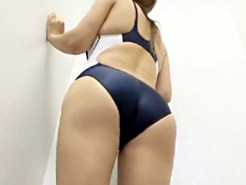 【着替え盗撮動画】ムチムチした身体の素人ギャルが競泳水着を試着…隠しカメラで一部始終を盗撮…