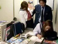 【JKレイプ盗撮動画】スリル味わう程度で電車の無賃乗車をした不良女子校生を事務所で駅長が強姦…