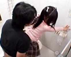 【JSレイプ盗撮動画】自宅トイレでオシッコする妹に押しかけ襲いかかる精子溜めすぎの兄が強姦した映像…