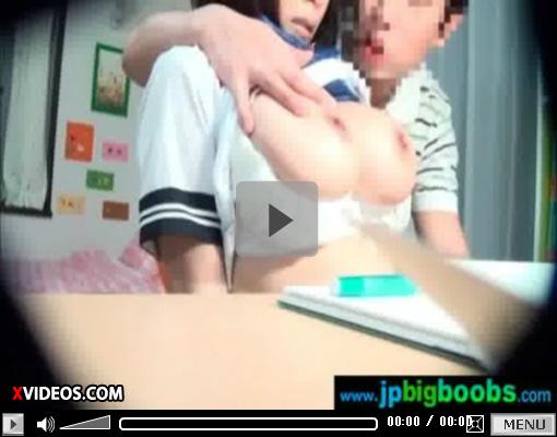 【JKレイプ盗撮動画】発育しすぎたHカップ爆乳女子校生に勉強教えず乳揉む家庭教師の悪行がヤバイww
