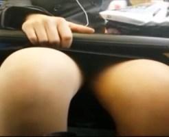 【電車隠撮動画】対面に座ったタイトスカートOLのクロッチ部分を隠し撮りした個人撮影映像…