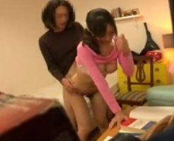 【SEX隠撮動画】オッパイの揉み方まで教えてくれるデカ乳カテキョと着衣ハメで暴発中出しする生徒ww