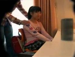 【家庭内盗撮動画】少しエッチなことに興味あるJCが家庭教師の押しに負けてセックスした一部始終…