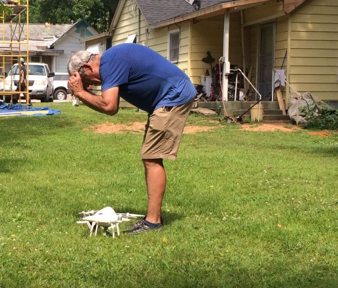 Setting up the drone