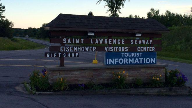 Eisenhower visitor center sign