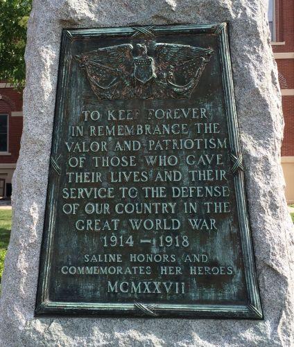 WW I memorial plaque