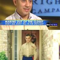 "First Marine Wounded in Iraq Comes Out of the Closet<br>Calls for Repeal of ""Don't Ask, Don't Tell"""