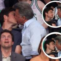 Photo: Dustin Hoffman and Jason Bateman Kiss at Lakers Game