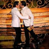 Did Oscar Producers Get 'Gay Panic' When Josh Brolin and Javier Bardem Kissed During the Telecast?