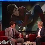 Ellen Checks for Bulges on Andrew Garfield's Spidey Suit: VIDEO