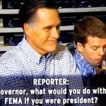 Watch Mitt Romney Avoid 11 Separate Questions About What He Would Do with FEMA: VIDEO