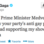 Lady Gaga Thanks Russia's Medvedev For Opposing Anti-Gay Law