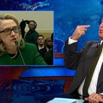 Jon Stewart and Stephen Colbert Agree That Hillary Clinton Made the GOP Look Like 'Weenies' Yesterday: VIDEO