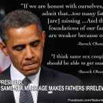 NOM Pushes Dishonest Obama Graphic Claiming 'Same-Sex Marriage Makes Fathers Irrelevant'