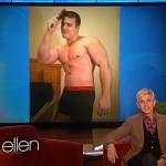 Ellen Shows Off Entries from Her Male Underwear Model Search: VIDEO