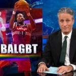 Jon Stewart Celebrates the NBA's First Gay Player Jason Collins: VIDEO
